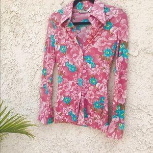 Vintage 🌸 1970's Flower Shirt